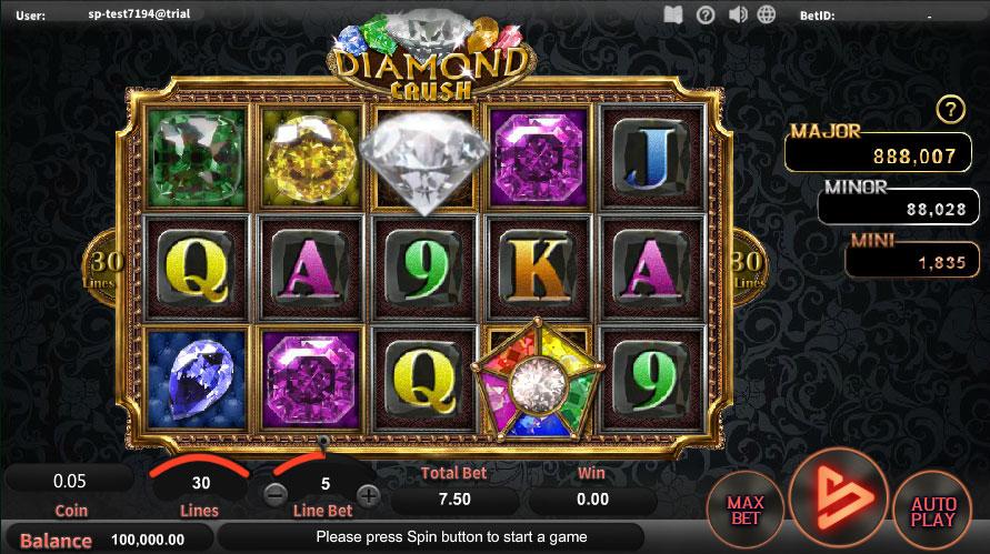 หน้าการเล่น Diamond Crush สล็อตออนไลน์