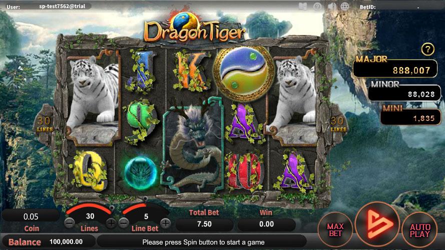หน้าการเล่น Dragon Tiger สล็อตออนไลน์