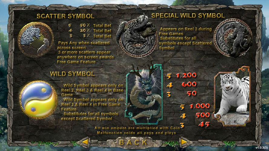 สัญลักษณ์พิเศษ Dragon Tiger สล็อตออนไลน์