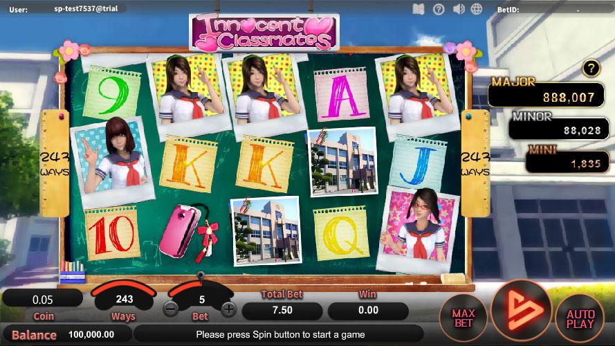 หน้าการเล่น Innocent Classmates สล็อตออนไลน์