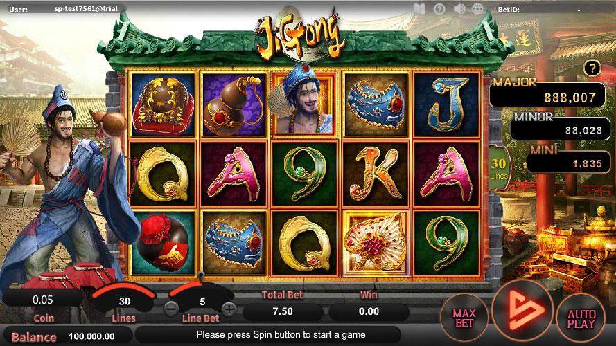 หน้าการเล่น Ji Gong สล็อตออนไลน์