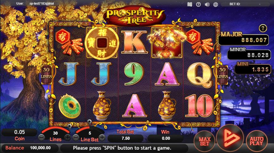 หน้าการเล่น Prosperity Tree สล็อตออนไลน์