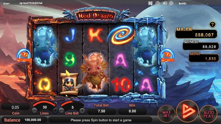 หน้าการเล่น Red Dragon สล็อตออนไลน์