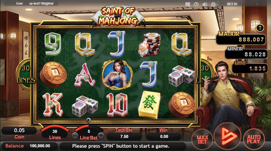 หน้าการเล่น Saint Of Mahjong สล็อตออนไลน์