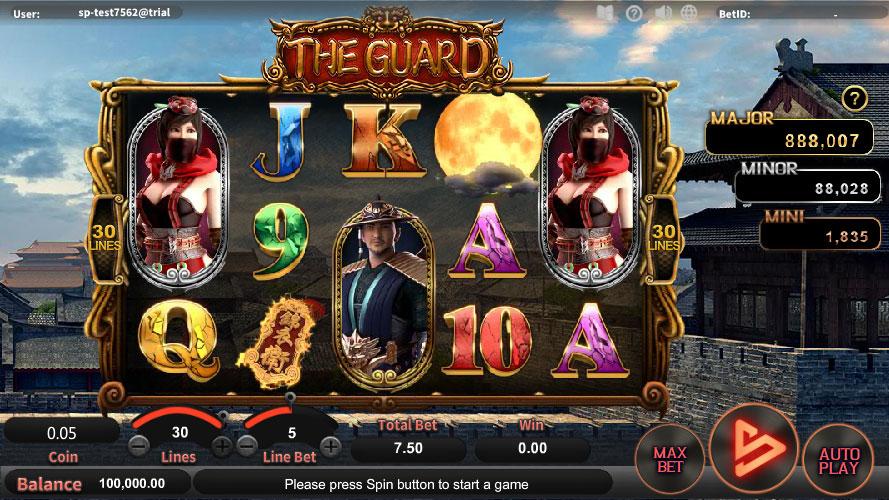หน้าการเล่น The Guard สล็อตออนไลน์