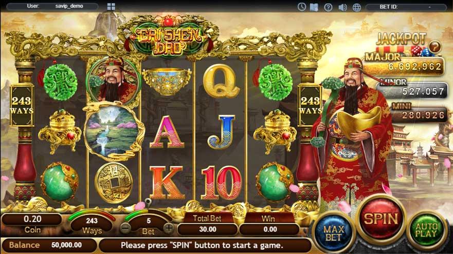 หน้าการเล่น Cai Shen Dao สล็อตออนไลน์