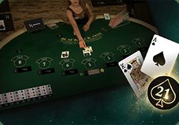 แบล็คแจ็ค Blackjack คาสิโนสด SA Gaming