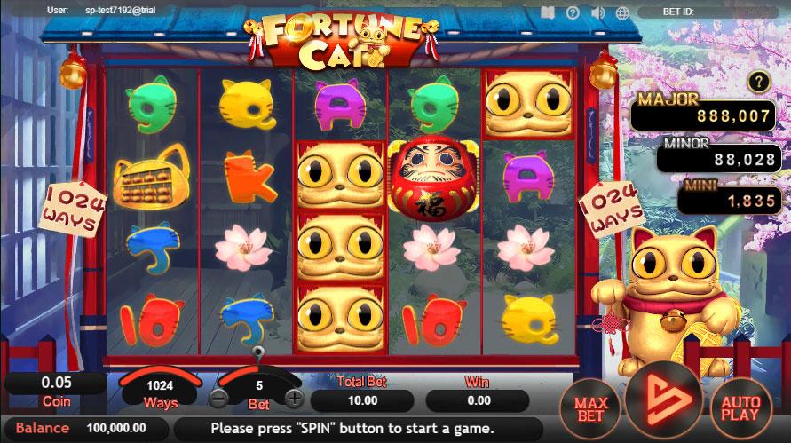 หน้าการเล่น Fortune Cat สล็อตออนไลน์