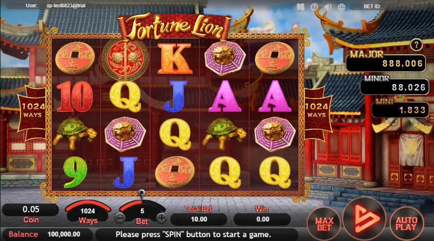 หน้าการเล่น Fortune Lion สล็อตออนไลน์