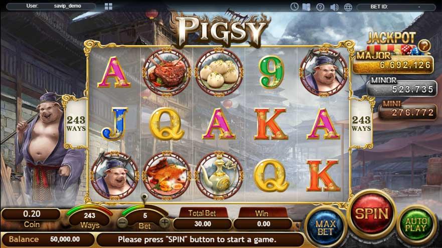 หน้าการเล่น Pigsy สล็อตออนไลน์