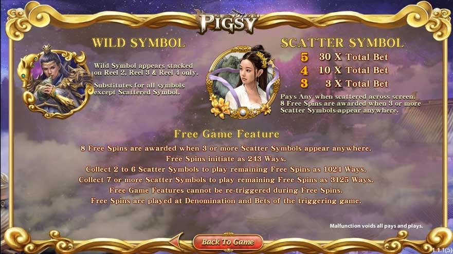สัญลักษณ์พิเศษ Pigsy สล็อตออนไลน์