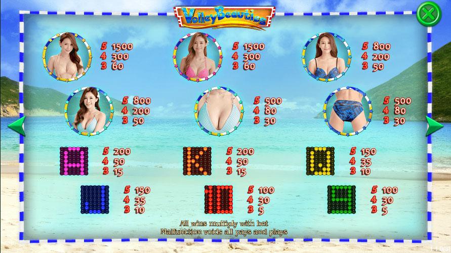 สัญลักษณ์ Volley Beauties สล็อตออนไลน์