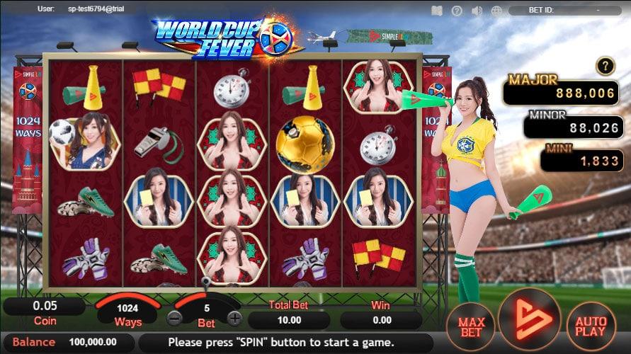 หน้าการเล่น World Cup Fever สล็อตออนไลน์