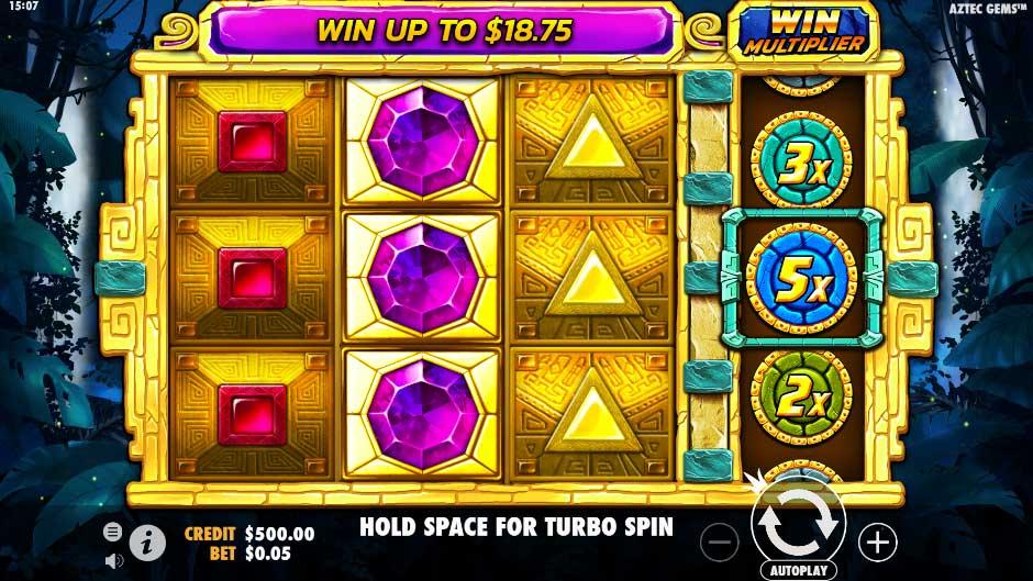 หน้าการเล่น Aztec Gems สล็อตออนไลน์